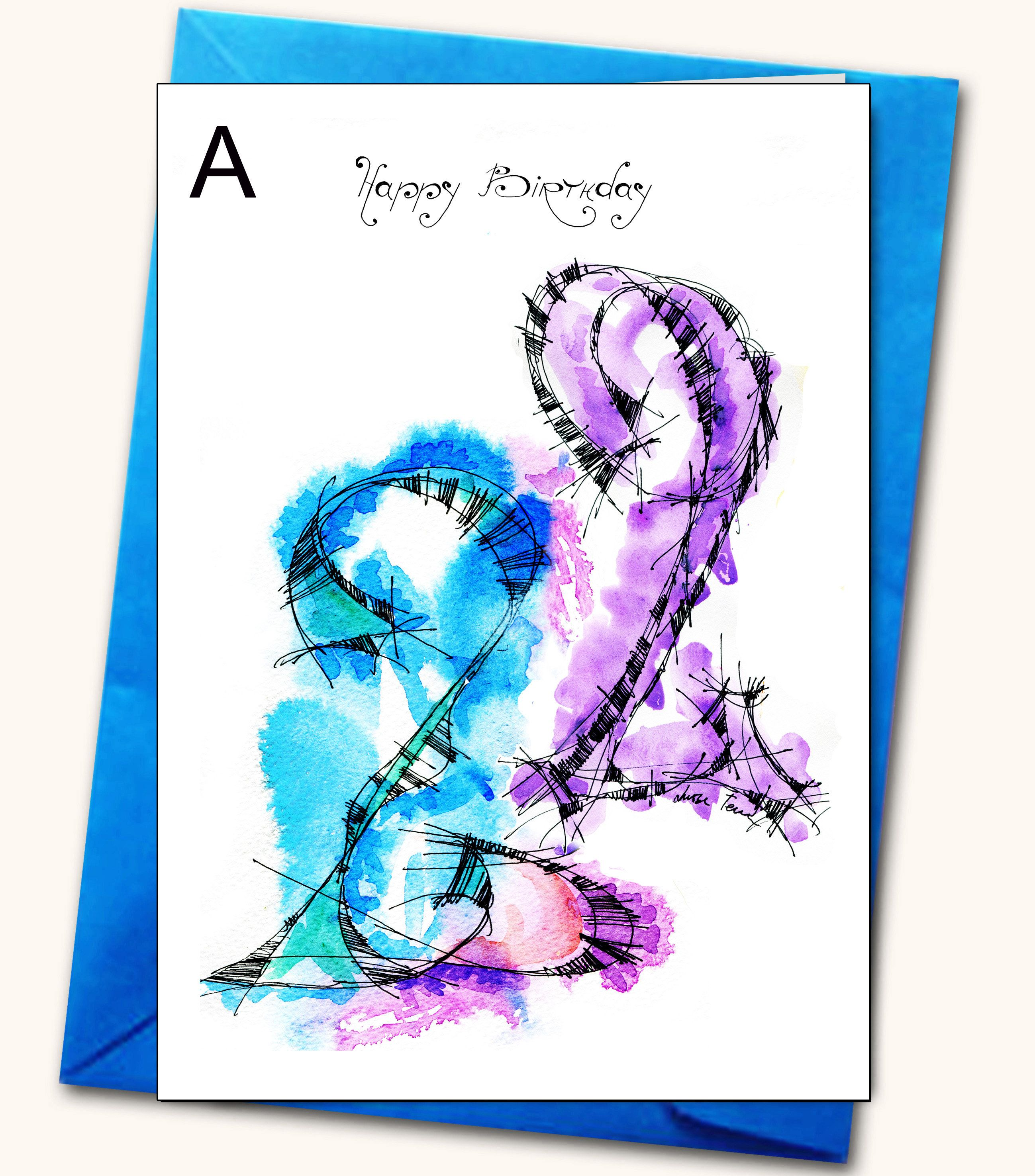22nd Extra Large Birthday Greeting Card A48 X Etsy Birthday Greeting Cards Birthday Greetings Luxury Birthday Cards