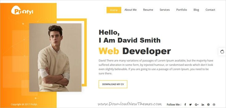 Profyl  Personal Vcard Resume Html Template  Template