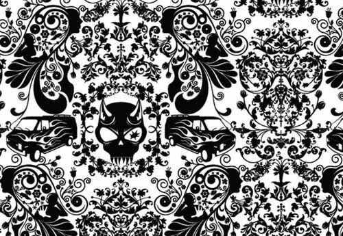 Black And White Wallpaper For Wall Decoration