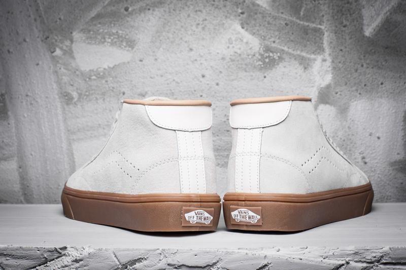 ae89b60973c5 Vans Leather Court Mid DX Classic Gum Sole White Womens Shoes  Vans ...