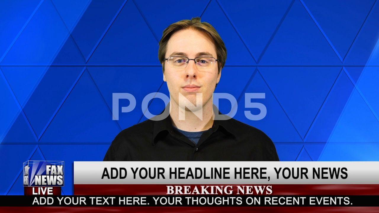 News Template Fox News 4k 1080 Stock After Effects Fox Template News Effects Live Breaking News Recent Events News