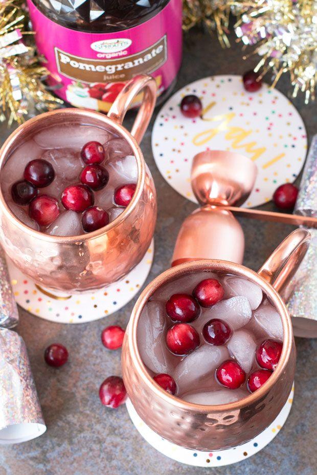 Cranberry Pomegranate Champagne Mule – Cake 'n Knife