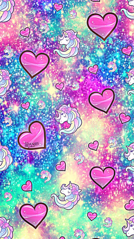 Unicorn Hearts Galaxy Wallpaper Androidwallpaper Iphonewallpaper Wallpaper Galaxy Cute