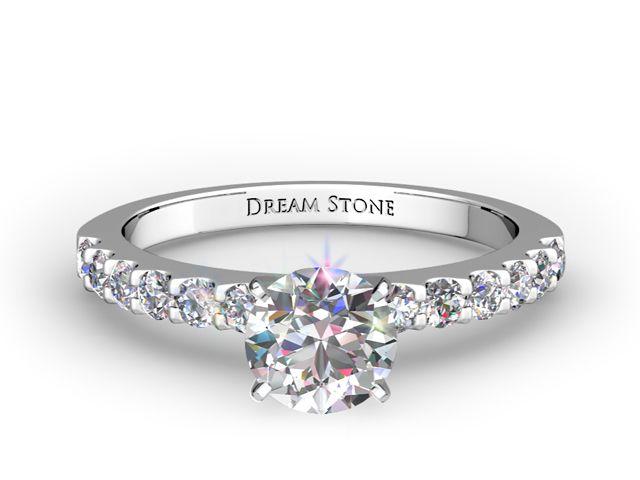 Pave-Set Diamond Engagement Rings