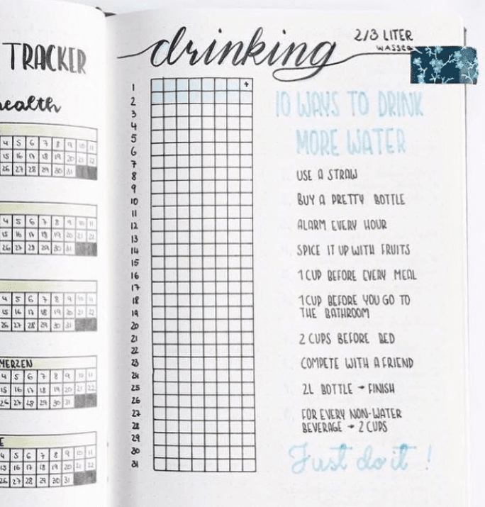 35 Motivating Fitness & Wellness Bullet Journal Layouts | ElizabethJournals -  35 Motivating Fitness...