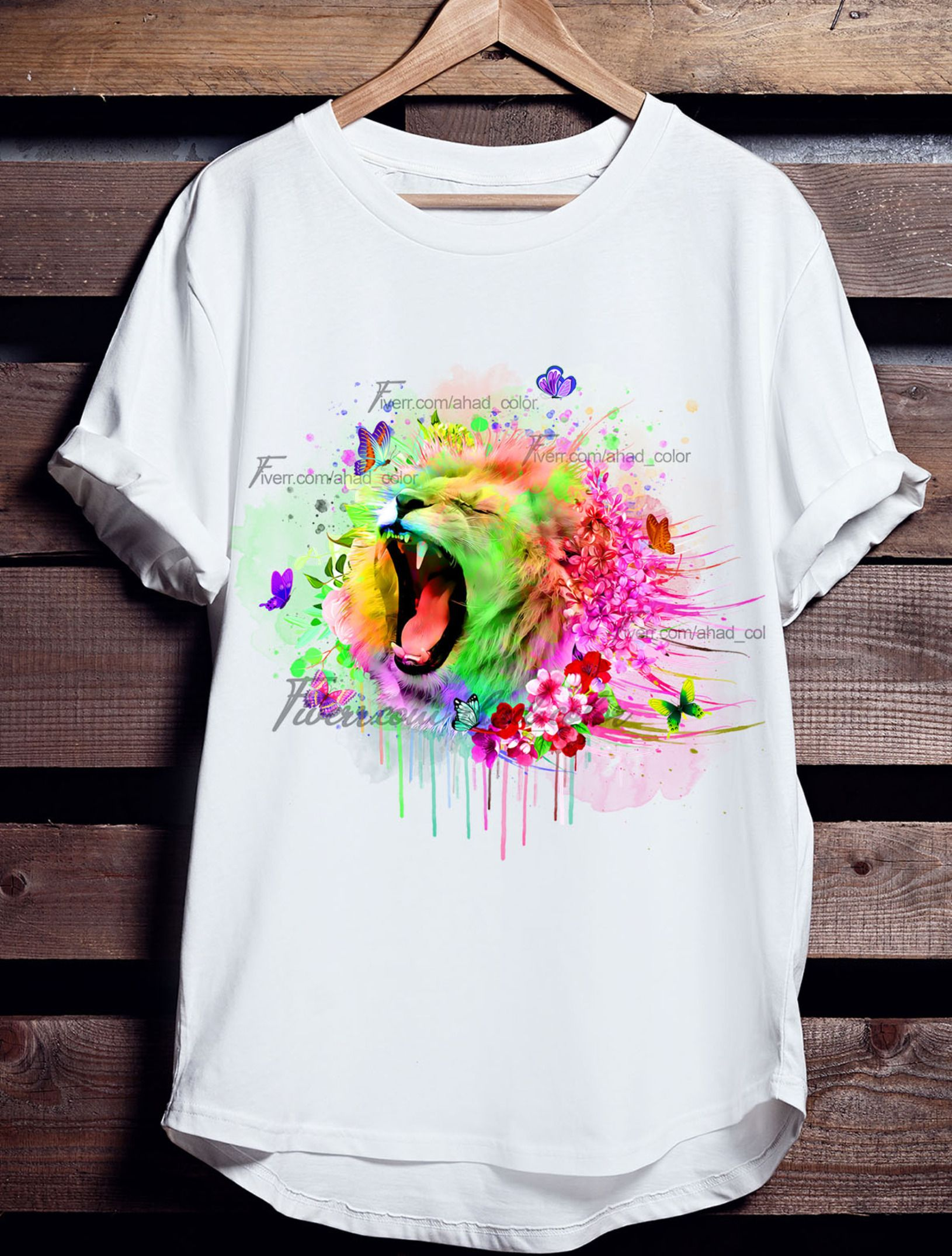 I Will Do Create Colorful Watercolor Tshirt For You By Here