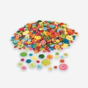 Bright Rainbow Craft Buttons - Bulk buttons - Oriental Trading