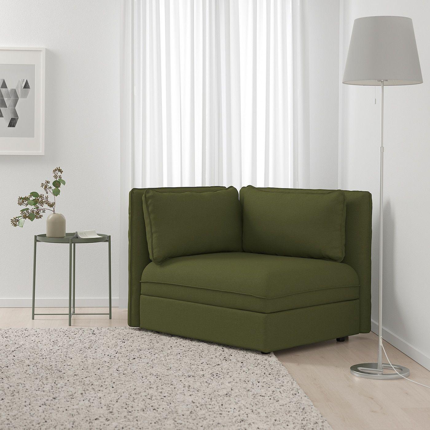 Ikea Vallentuna Sectional 1 Seat Orrsta Olive Green Ikea Sofa Flexible Furniture