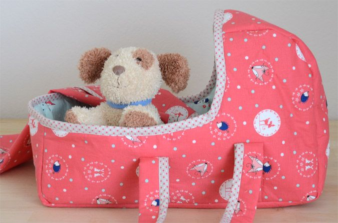 Make A Baby Doll Basket With Binding Baby Doll Carrier