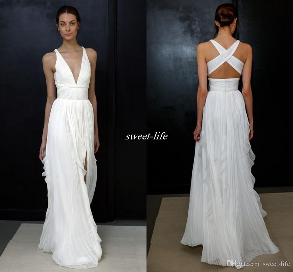 2017 Gaine De Mariage Robes Pour Grec Déesse Simple Brides