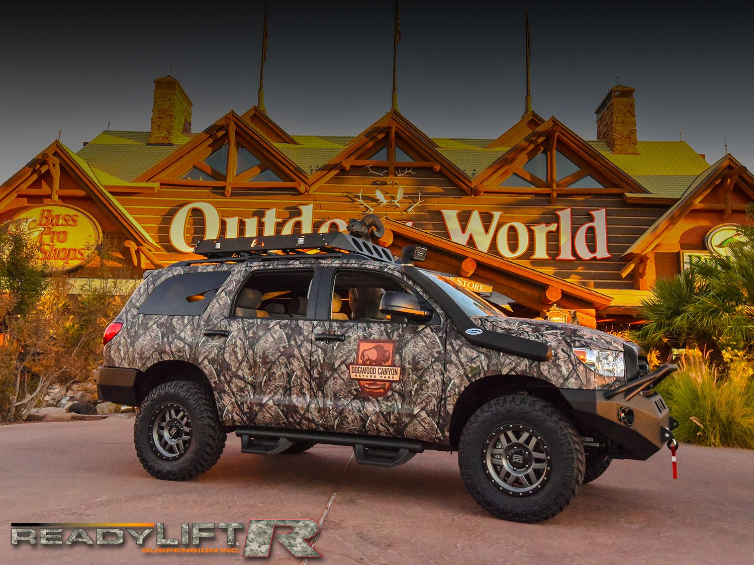 Awesome Toyota Sequoia Built By Devine1 Customs Featuring Our Land Cruiser 200 Lift Kit Readylift 3 Sst For Bass Pro Shops