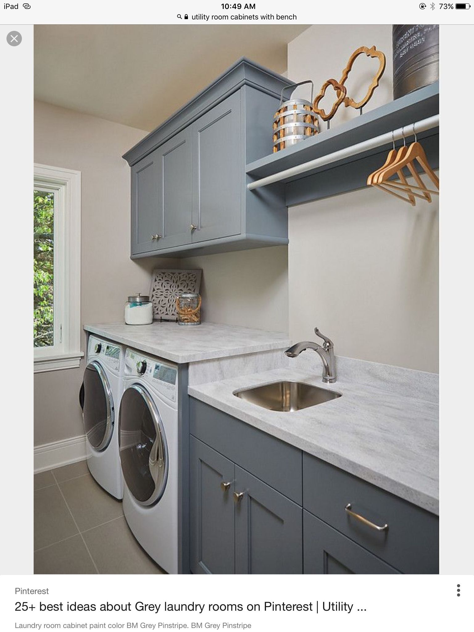 Pin By Kellie Raver On Patty Smothers Grey Laundry Rooms Laundry Room Cabinets Vintage Laundry Room
