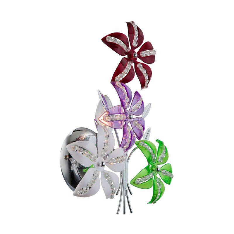 Applique Design En Design Floral Avec Interrupteur A Tirette Kaunos 51422w