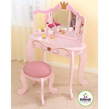 Princess Vanity Table and Stool     Little Ham     Pinterest ...