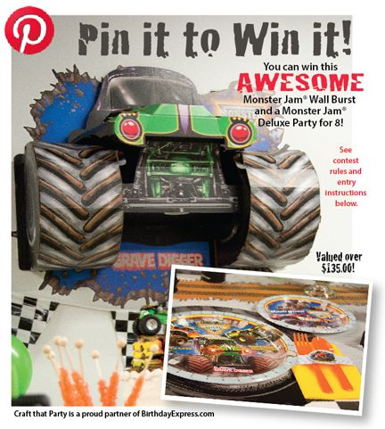 Roaring engines, delicious cake, and a roomful of happy kids – It's a Monster Jam birthday party! Jen Dixon of Craft That Party put...