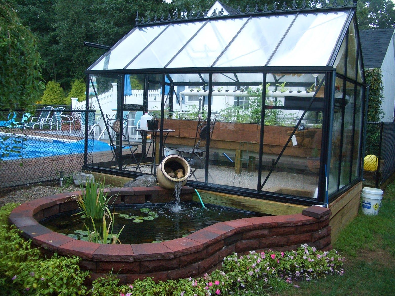 greenhouse aquaponics     we ended up incorporating an aquaponic system into our greenhouse and