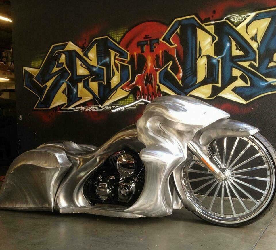 Nice Sheet Metal Work Harley Bagger Custom Harleys Bagger
