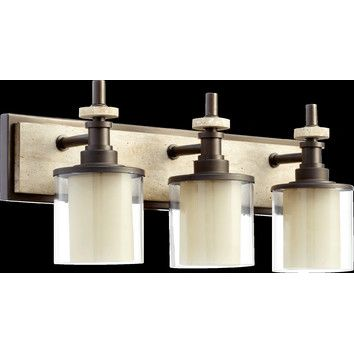 Quorum Concord 3 Light Bath Vanity Light replacement for bath off office?
