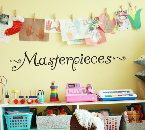 MASTERPIECES Wall Decal Vinyl Wall Sticker For Kids ART Display ...