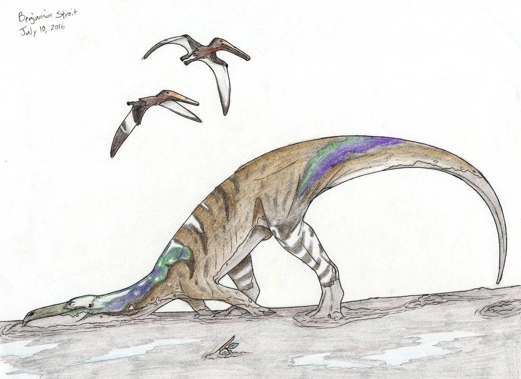 Just A Megalosaurus Bucklandi Thoroughly Enjoying Itself While