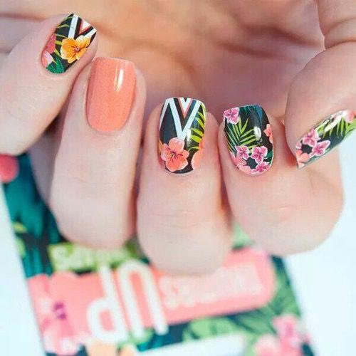 Tropical Nails #nail #art #inspo - Tropical Nails #nail #art #inspo NAILS Shopcade Pinterest