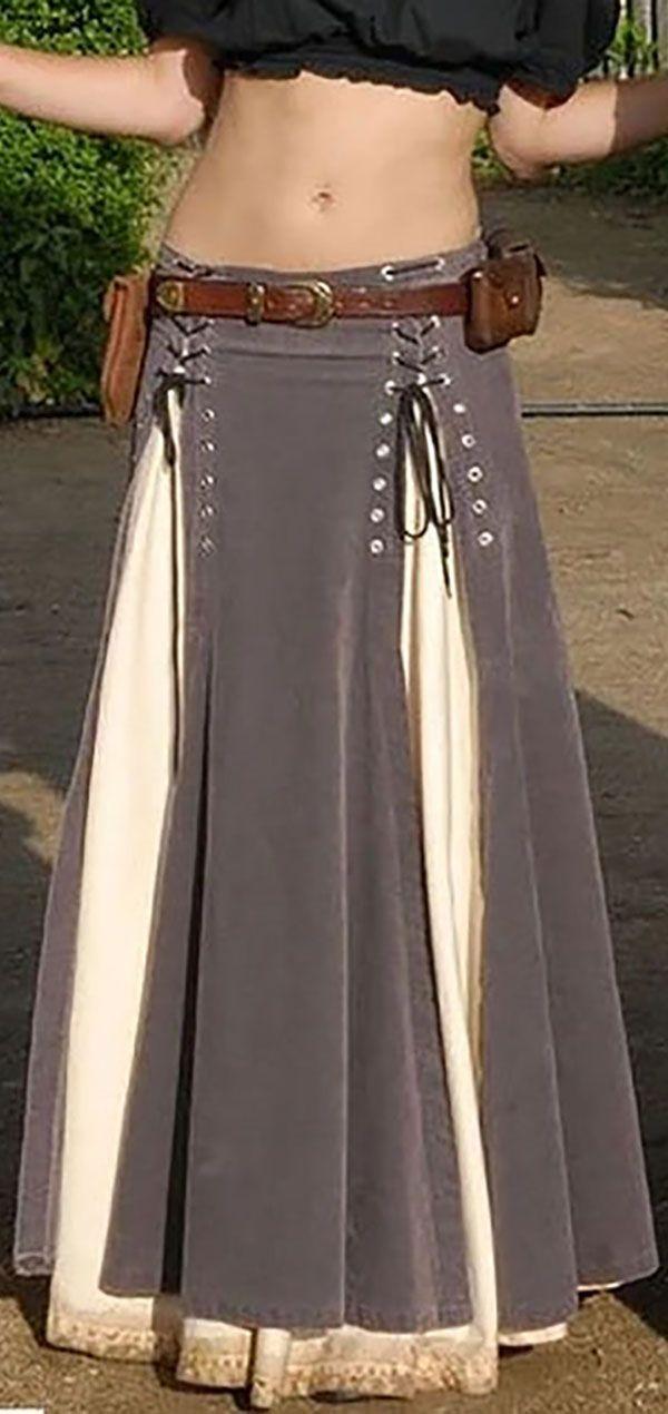 Hot Sale!Women's Vintage Lace-Up Skirts 4