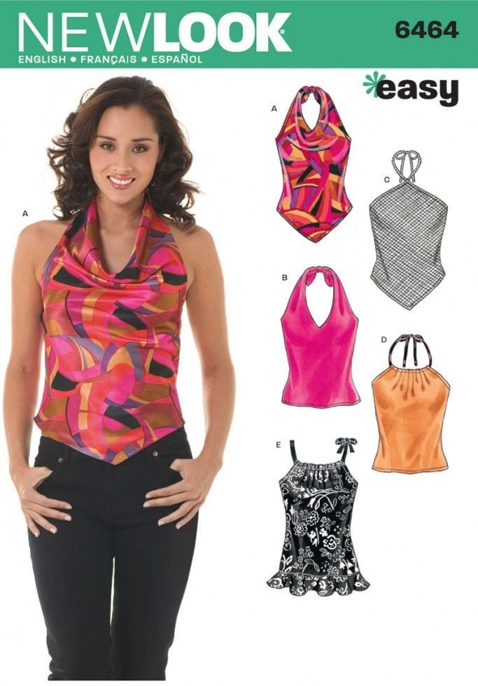 Free UK P&P - New Look Ladies Easy Sewing Pattern 6464 Halter Neck ...