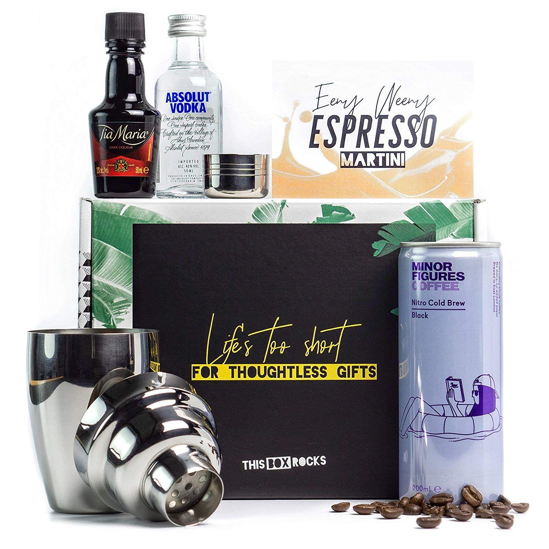 Espresso Martini Kit with Mini Cocktail Shaker, Tia Maria