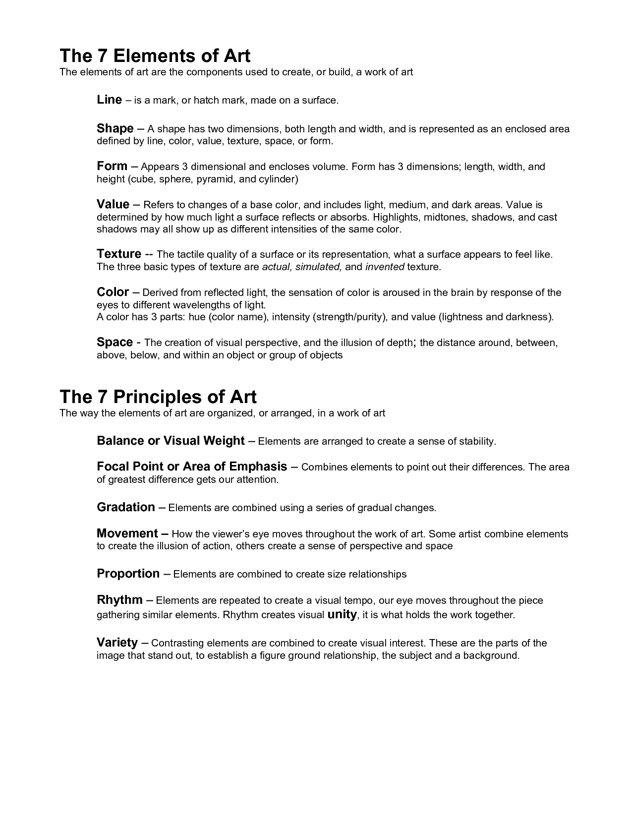 elements of design | elements of art | analysis | pinterest | design