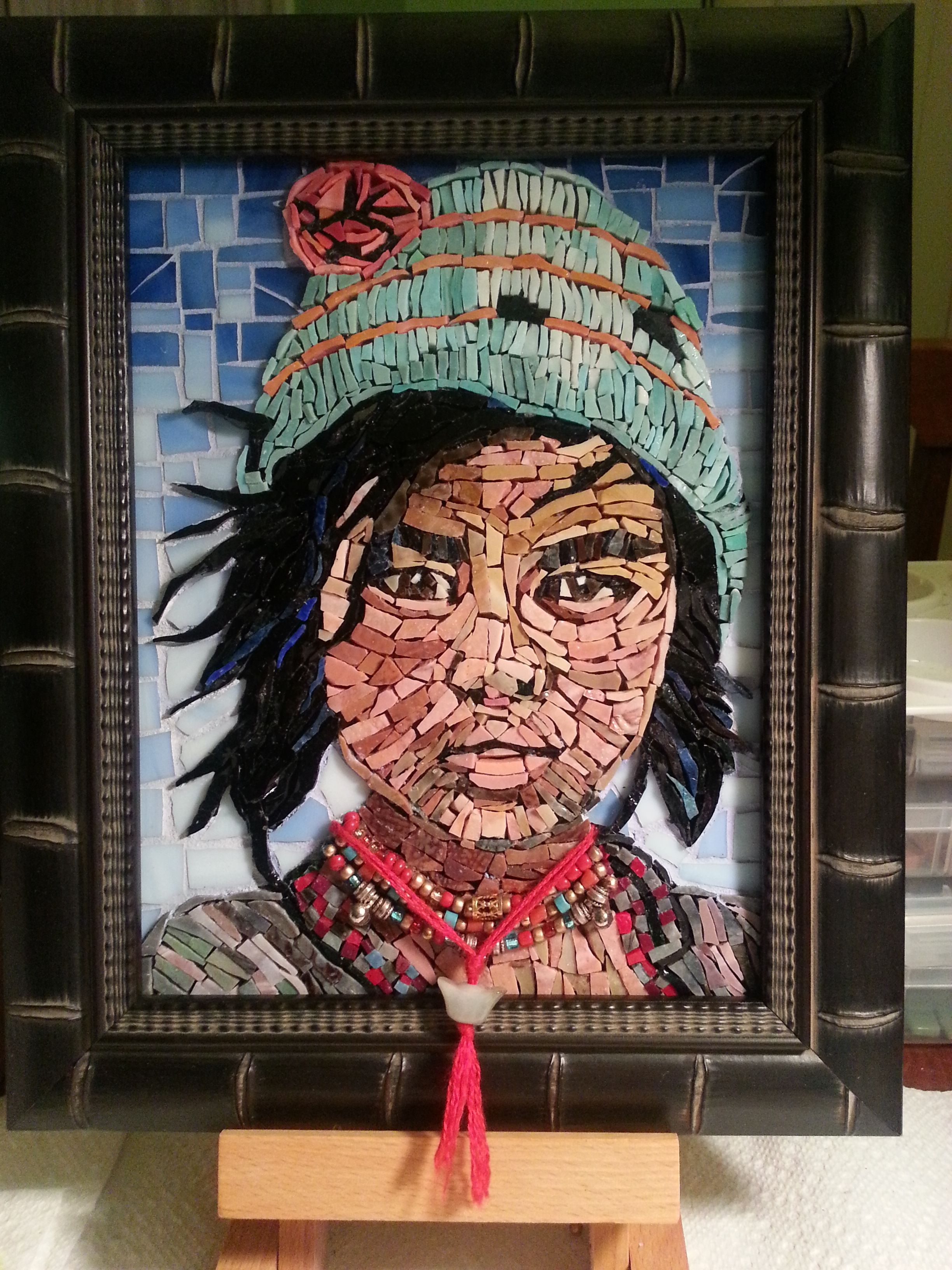 Stained Glass Mosaic Portrait