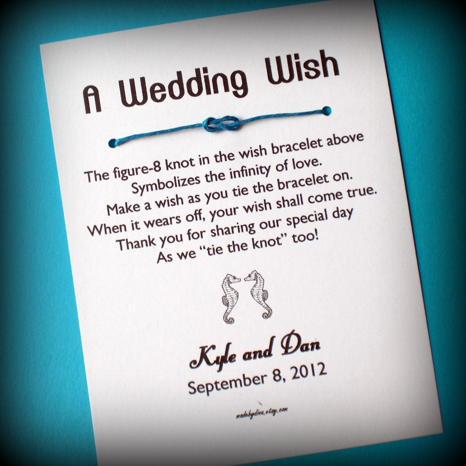 wish bracelet made wedding favor platinum rings day you pin a for custom