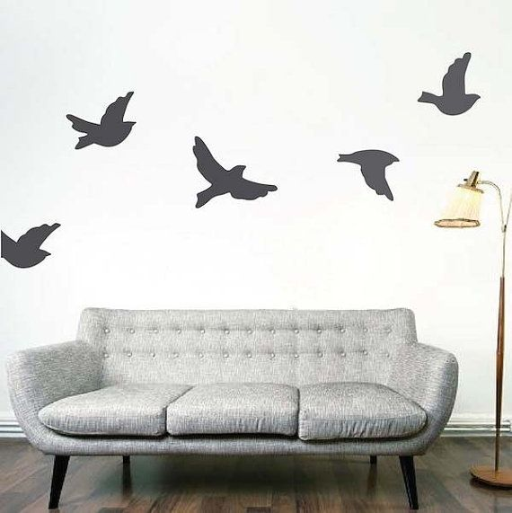 Flying Birds Vinyl Art Design by trendywalldesigns on Etsy, $9.95 ...
