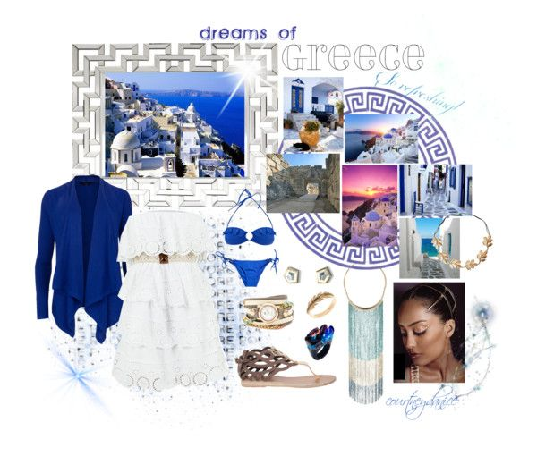 """""""dreams of Greece"""" by courtneydanice on Polyvore"""