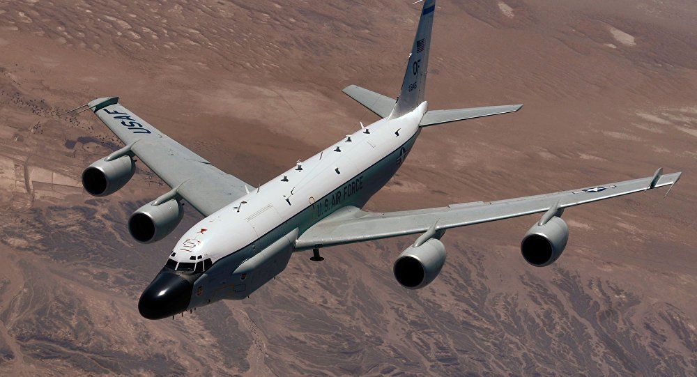 Us Spy Plane Flies Over Russian Territory Spy Plane Us Military Aircraft Reconnaissance Aircraft