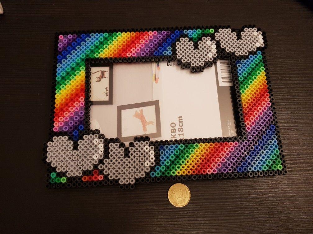 Photo frame ikea custom hama perler | Perler bead projects