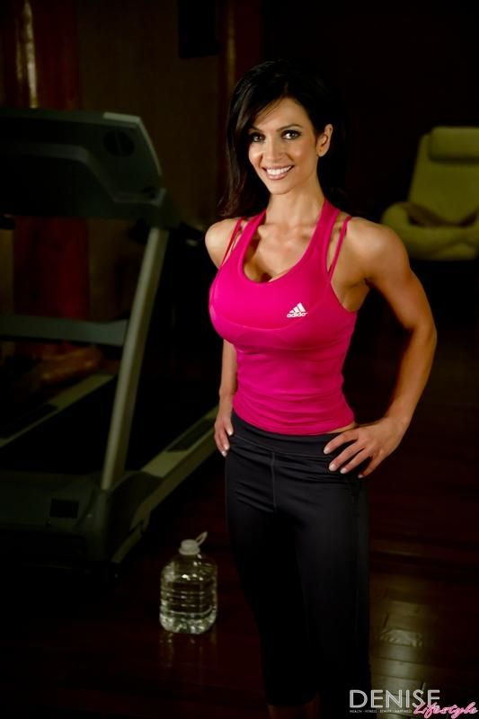Denise Milani In An Adidas Workout Sexy Hot Fitness Model -8110