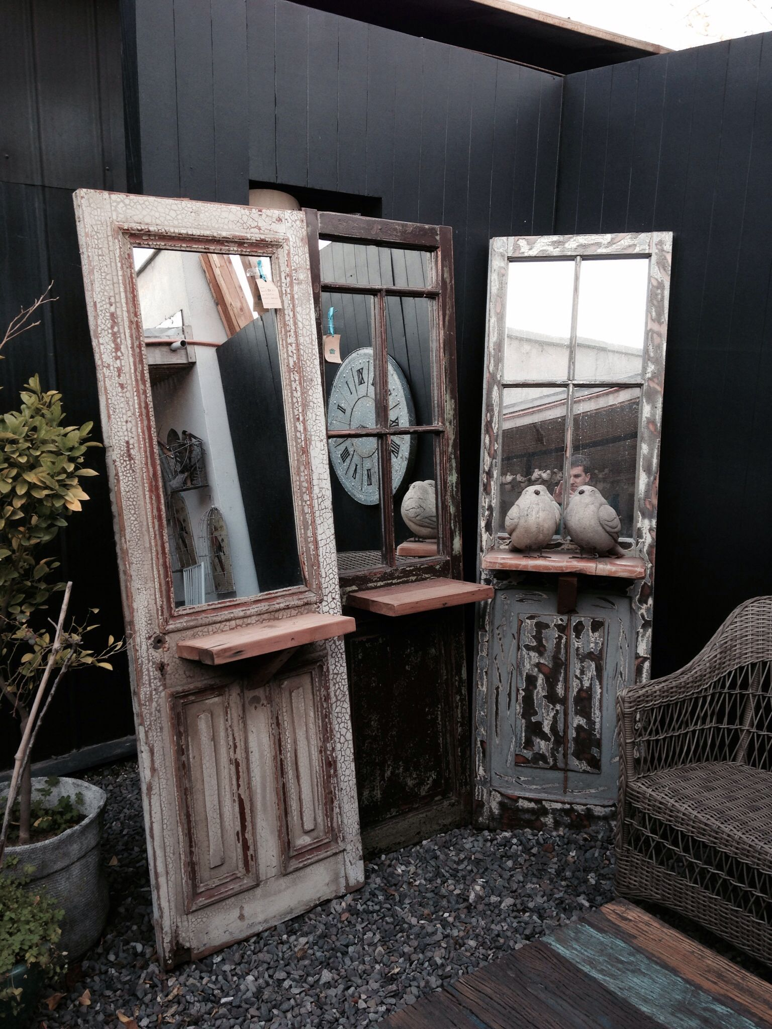 puerta antigua con espejo home deco pinterest