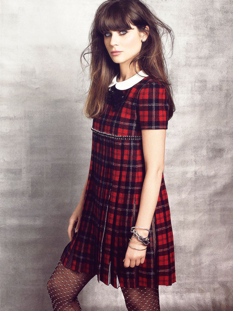 Zooey Deschanel in plaid for Marie Claire (sept. 2013) | Pinterest