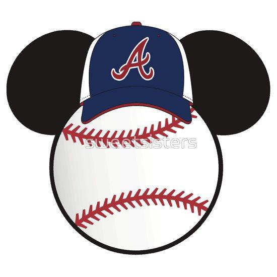 daf22feacdc Atlanta Braves Mickey Mouse baseball