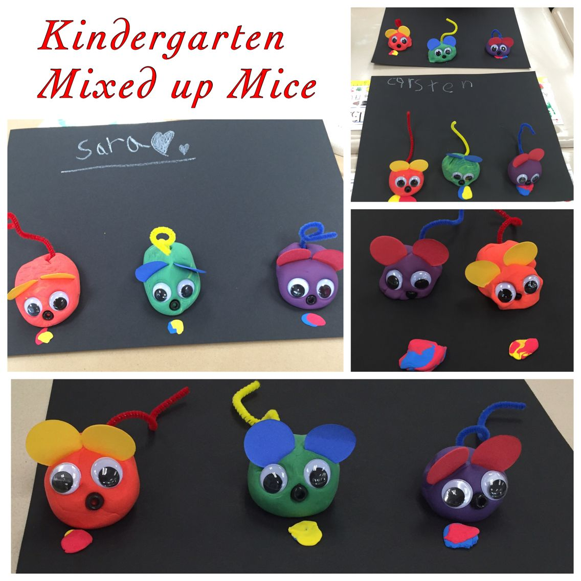 Kindergarten Mixed Up Mice Color Mixing Lesson With