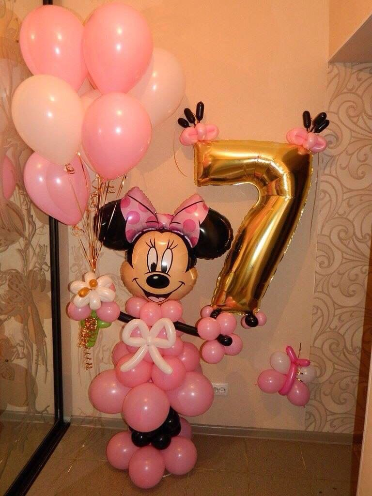 Balloon decorations pinterest for Balloon decoration minnie mouse