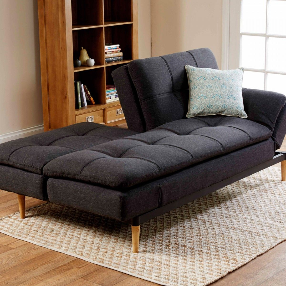 da vinci sofa bed charcoal fabric lounges upholstery my office