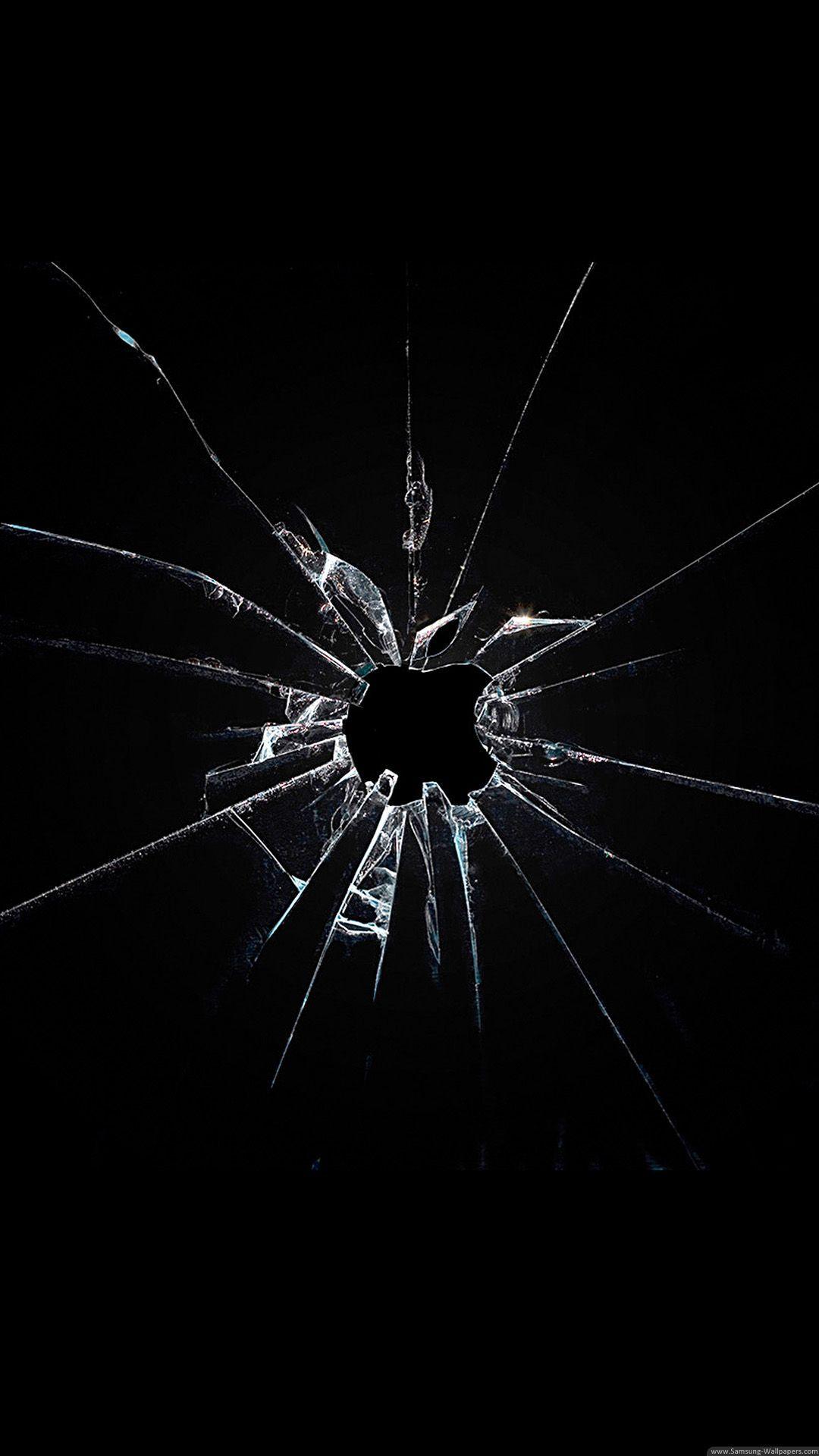 Image result for broken glass Dark wallpaper iphone
