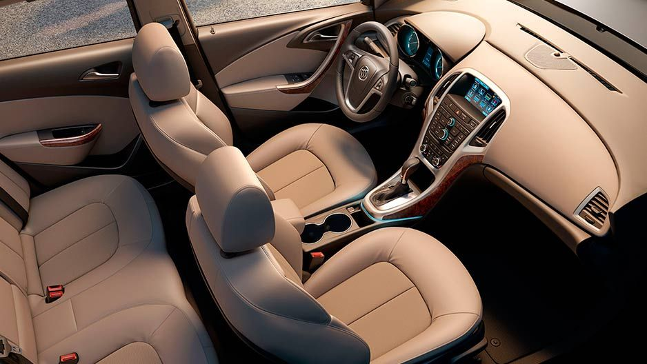 Overhead View Of The 2016 Buick Verano Small Luxury Sedan S Ious And Comfortable Interior