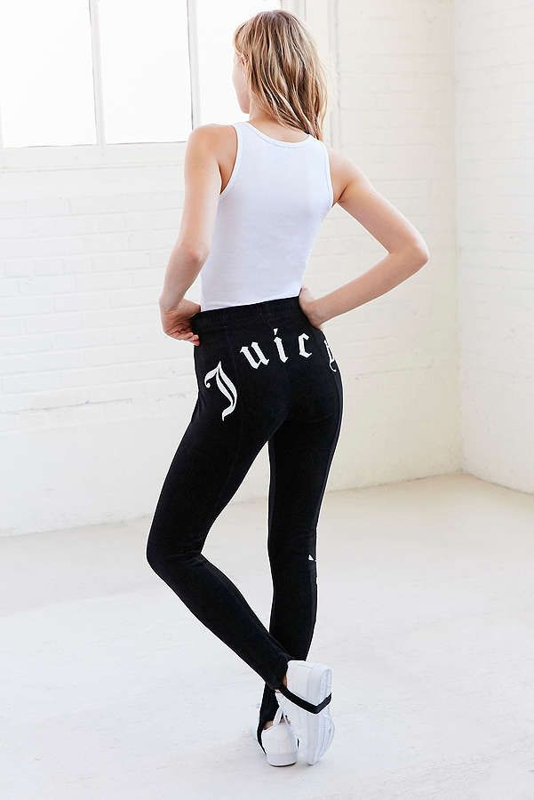 fabce9f1ff89f Slide View: 1: Juicy Couture Velour Drawstring Stirrup Pant ...