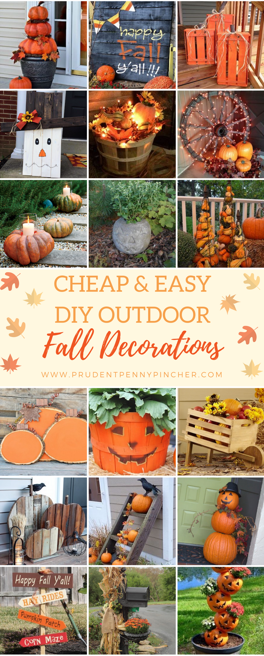 50 Cheap and Easy DIY Outdoor Fall Decorations is part of Clothes Fall DIY - Get your yard ready for Fall with these cheap and easy outdoor fall decor ideas  Whether it's a yard, garden, or porch display, you're sure to find beautiful fall inspiration for your home here  DIY
