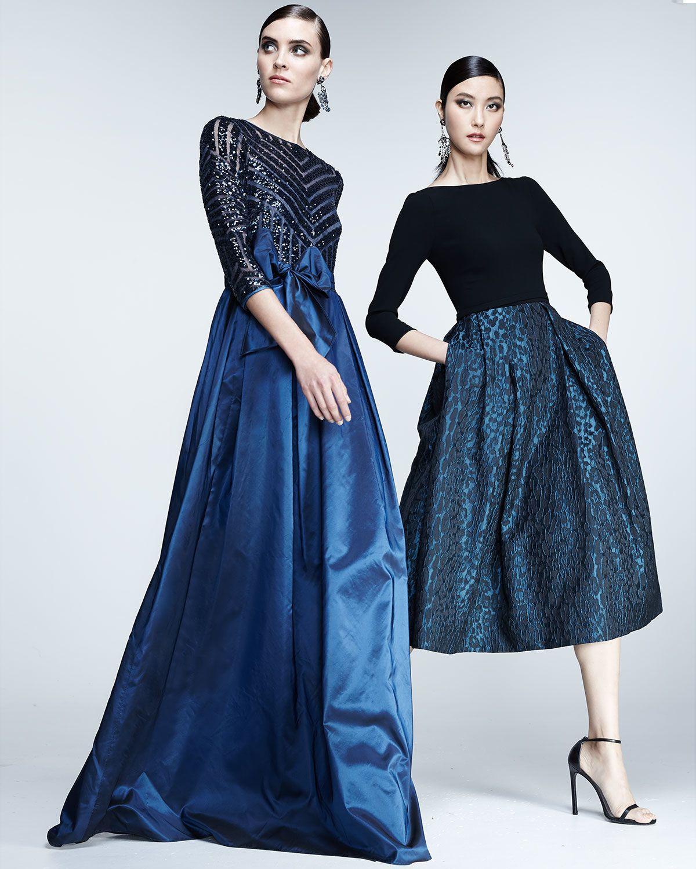 Teri jon longsleeve illusion beaded gown vestidos largos de noche