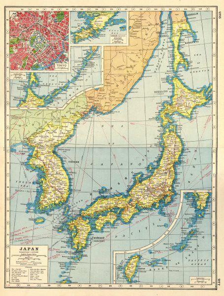 Vintage map japan inset tokyo lushun hokkaido japan taiwan vintage map japan inset tokyo lushun hokkaido japan taiwan gumiabroncs Images