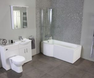 Gray Bathroom   Photo Of Modern Grey Better Bathrooms Bathroom With Mosaic  Tiles .