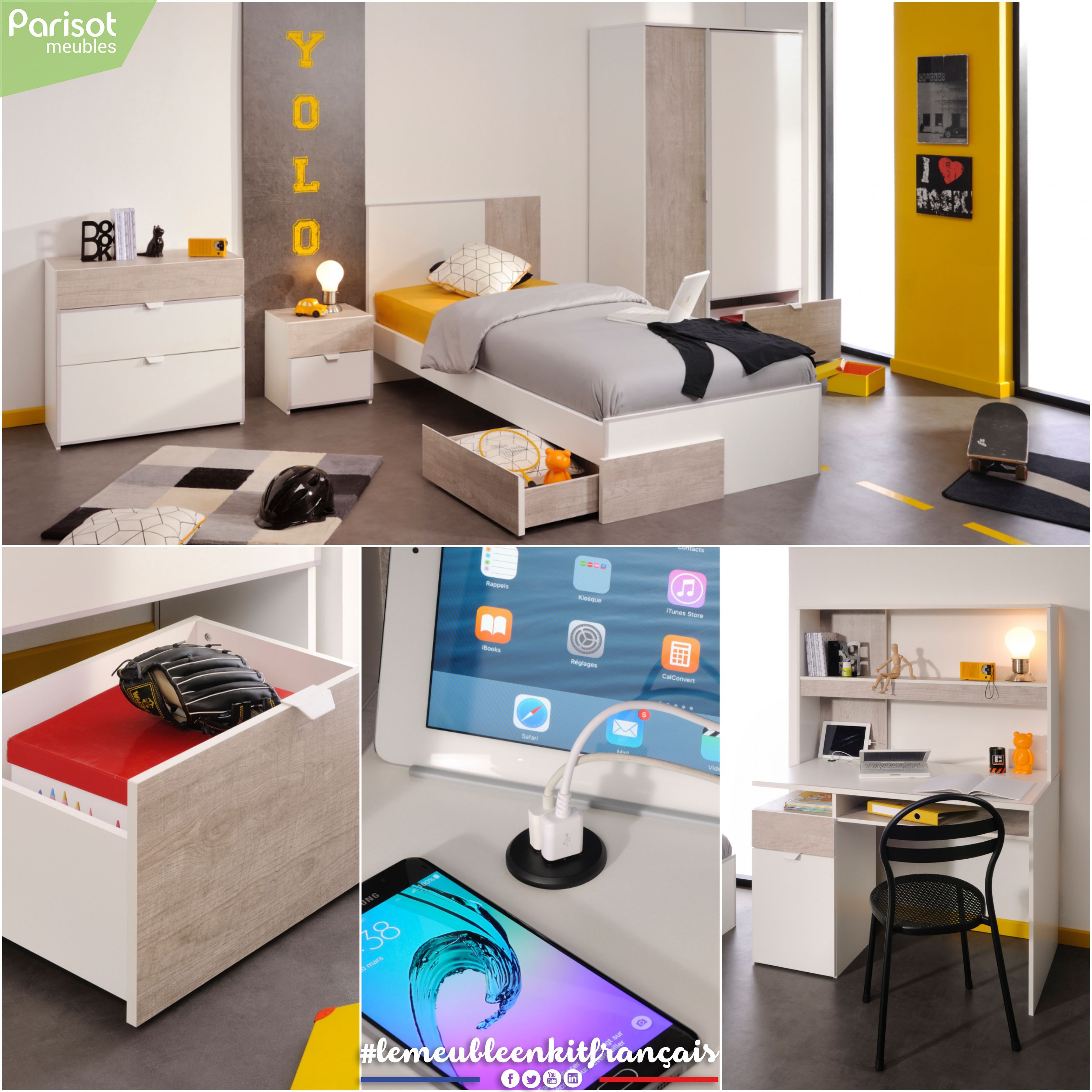 Yolo By Parisot Meubles A Range Bringing Optimised And Connected Functions Perfectly Adapted To The New Teenagers Desires Optimization Bring It On Function